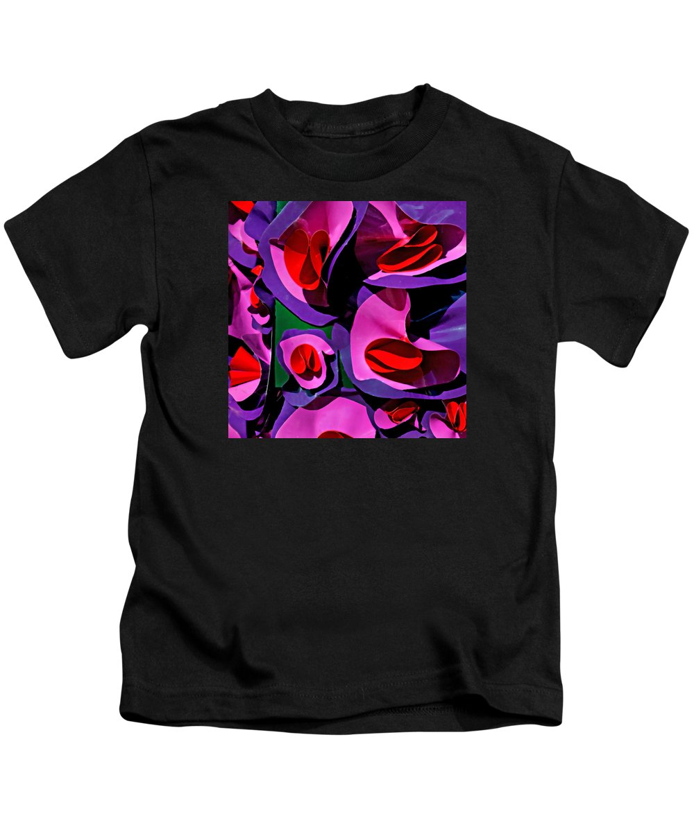 Paper Flowers Kids T-Shirt featuring the photograph Paper Flowers by Art Block Collections