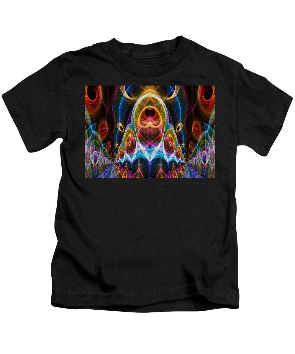 Series Echo Kids T-Shirt featuring the digital art Parade Down Main Street by Owlspook