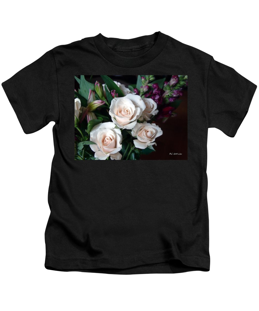 Flowers Kids T-Shirt featuring the photograph Pardon My Blush by RC DeWinter