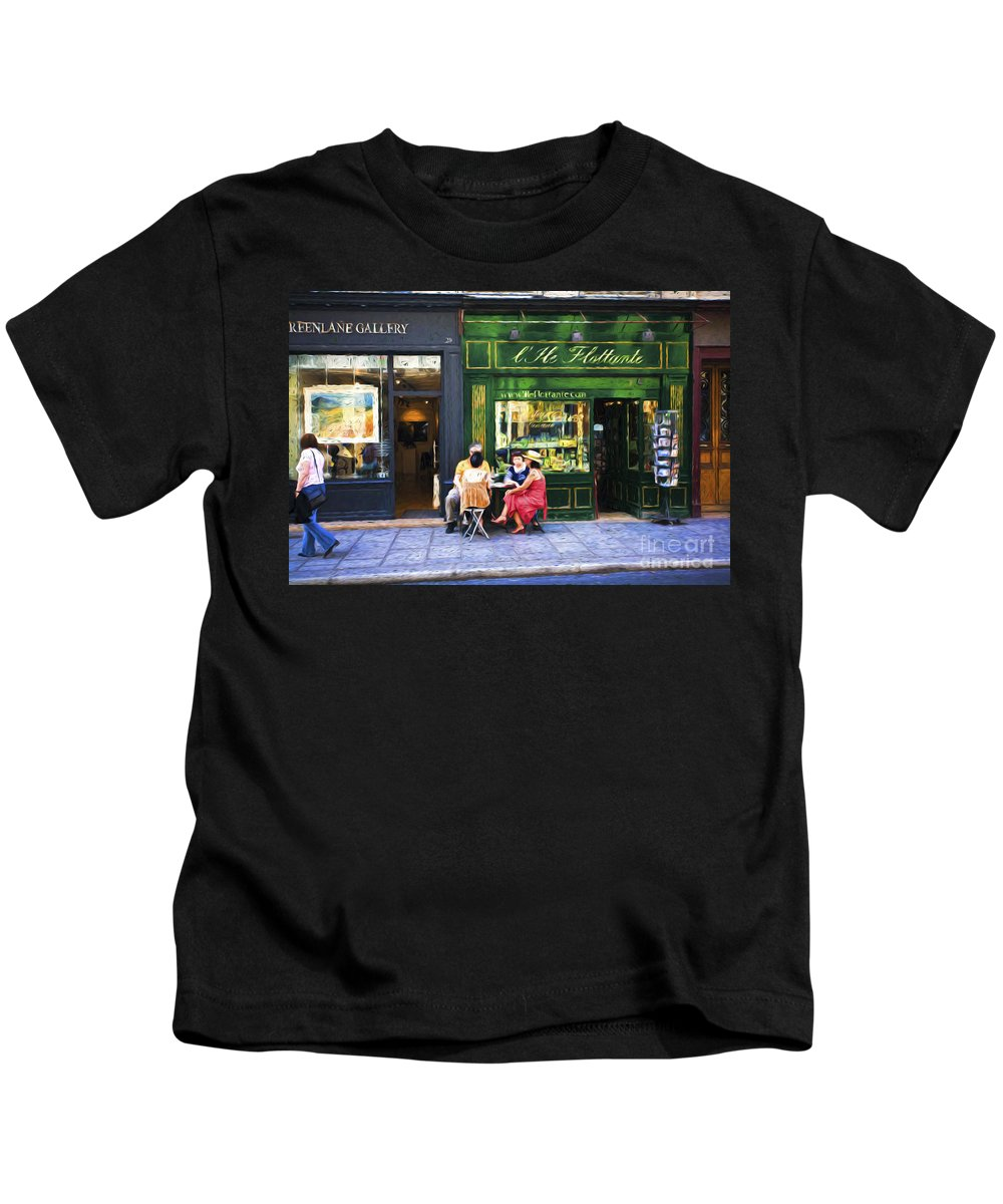 Paris Kids T-Shirt featuring the photograph Paris street scene by Sheila Smart Fine Art Photography