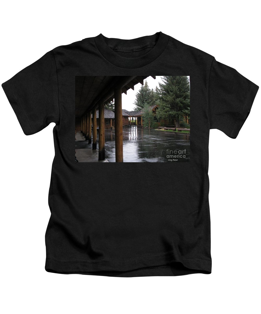 Patzer Kids T-Shirt featuring the photograph Parking Lot by Greg Patzer