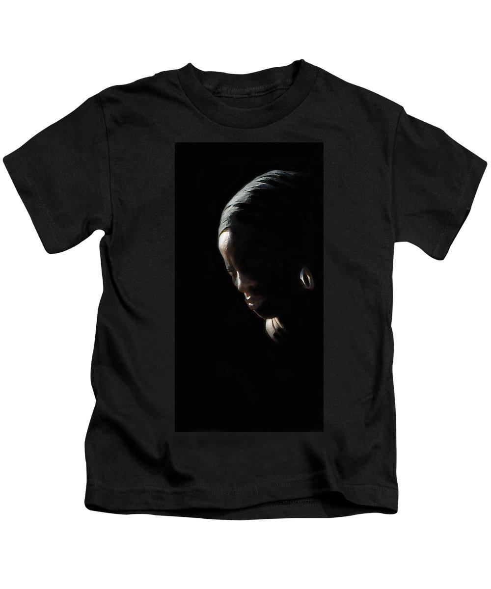 Woman Kids T-Shirt featuring the photograph Passage by Ian MacDonald