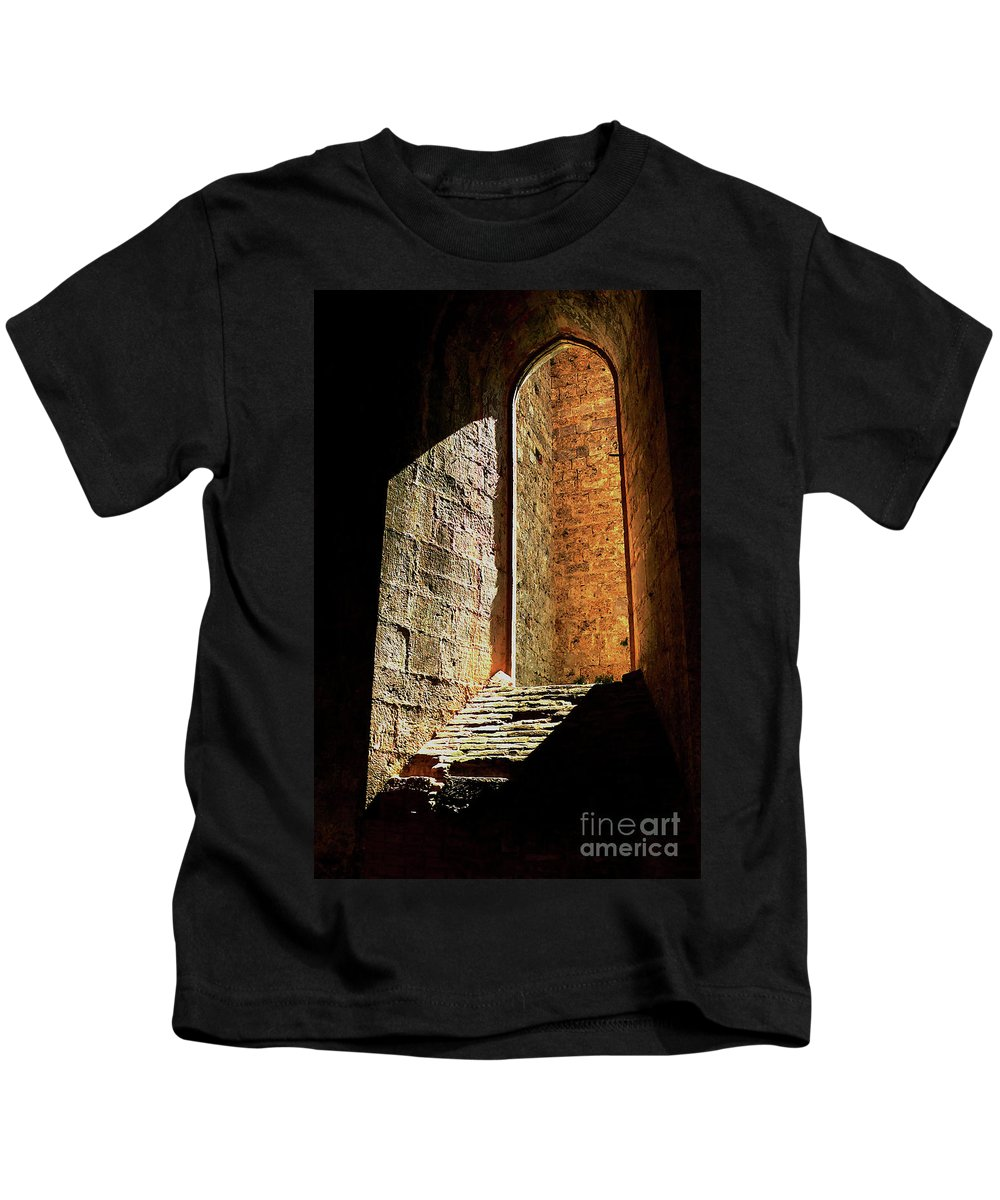 Window Kids T-Shirt featuring the photograph Passage Of Light by Angela Wright