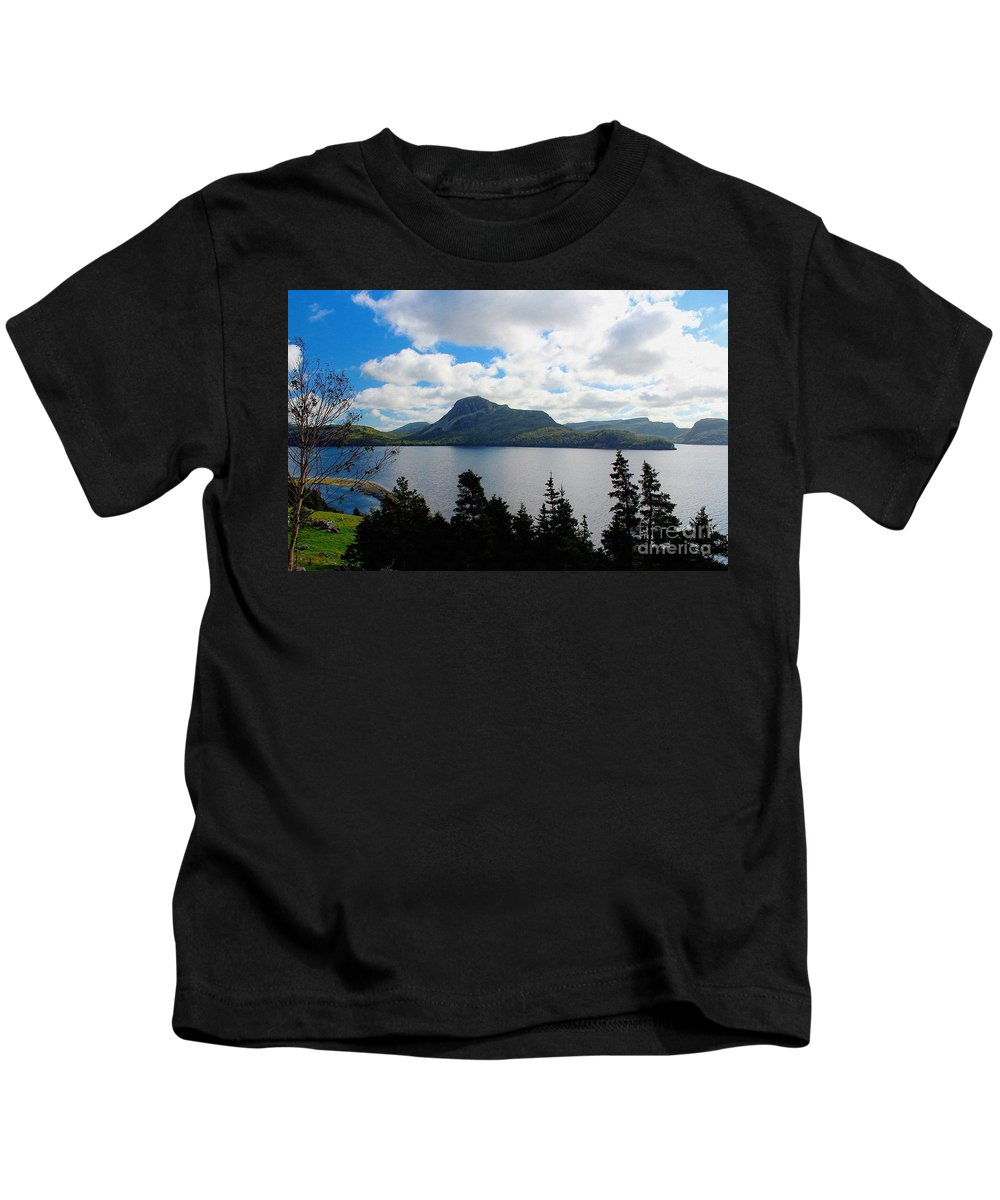 Pastoral Scene By The Ocean Kids T-Shirt featuring the photograph Pastoral Scene By The Ocean by Barbara Griffin
