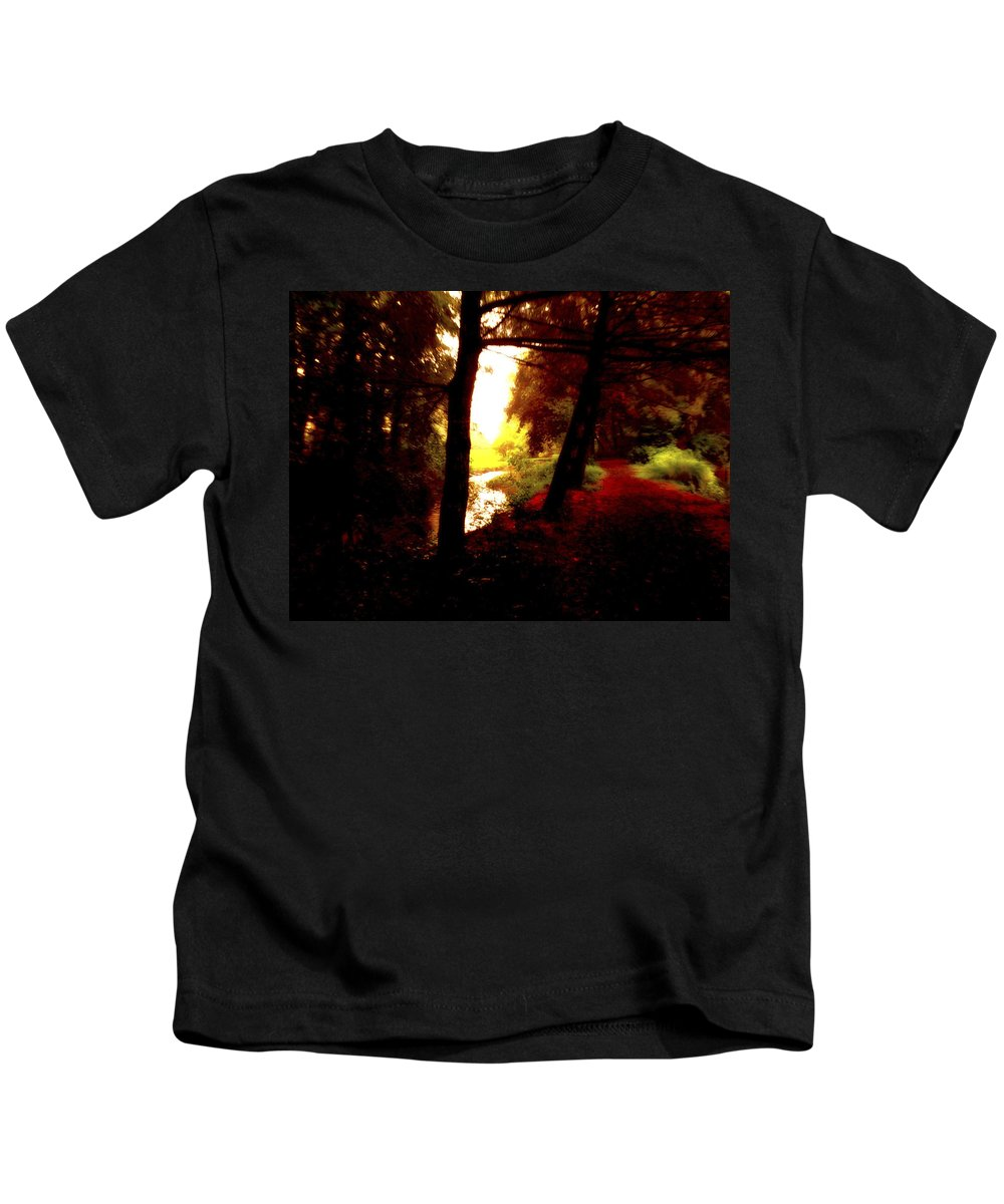Art Kids T-Shirt featuring the digital art Into The Morning Light by Femina Photo Art By Maggie