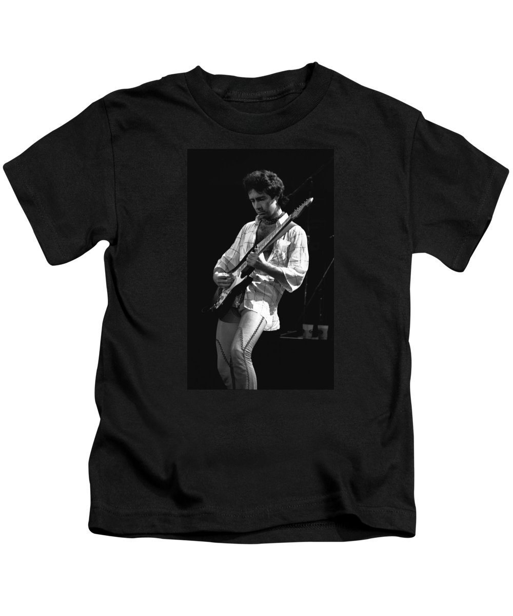 Paul Rodgers Kids T-Shirt featuring the photograph Paul Showing His Love To The Spokane Crowd In 1977 by Ben Upham