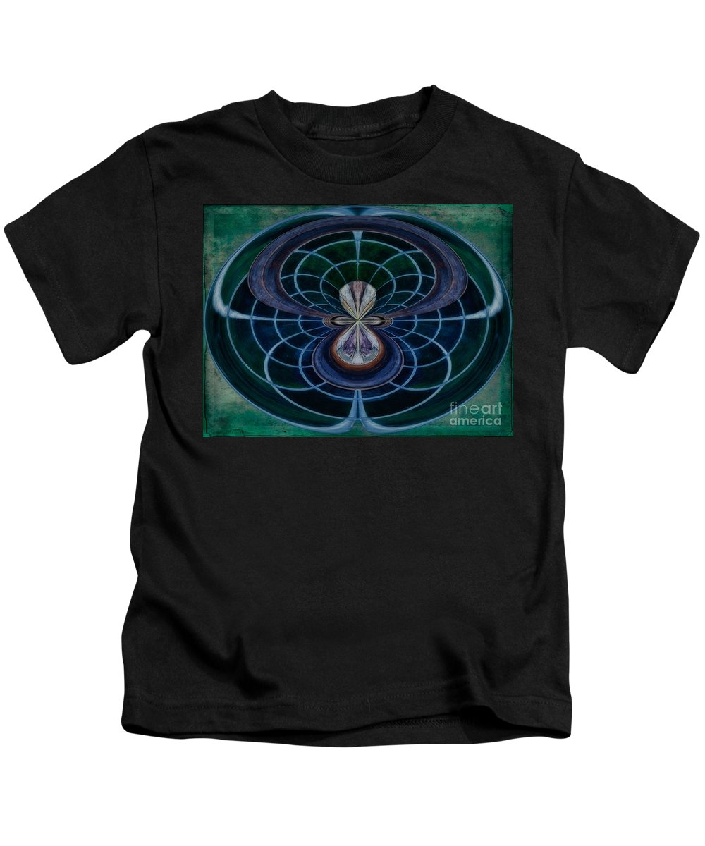 Peacock Kids T-Shirt featuring the photograph Peacock Feather Abstract by Susan Candelario