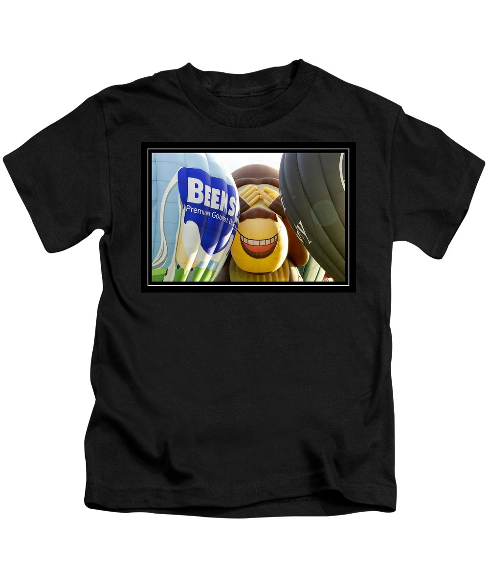 Ballons Kids T-Shirt featuring the photograph Peek A Boo Balloons by Alice Gipson