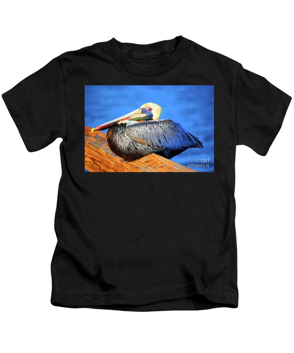 Pelican Kids T-Shirt featuring the photograph Pelican Rest by Jost Houk