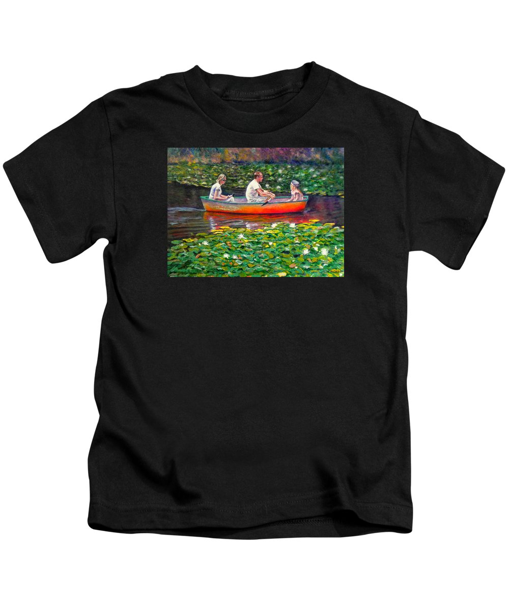 Water Lily Kids T-Shirt featuring the painting Perfect Afternoon by Michael Durst