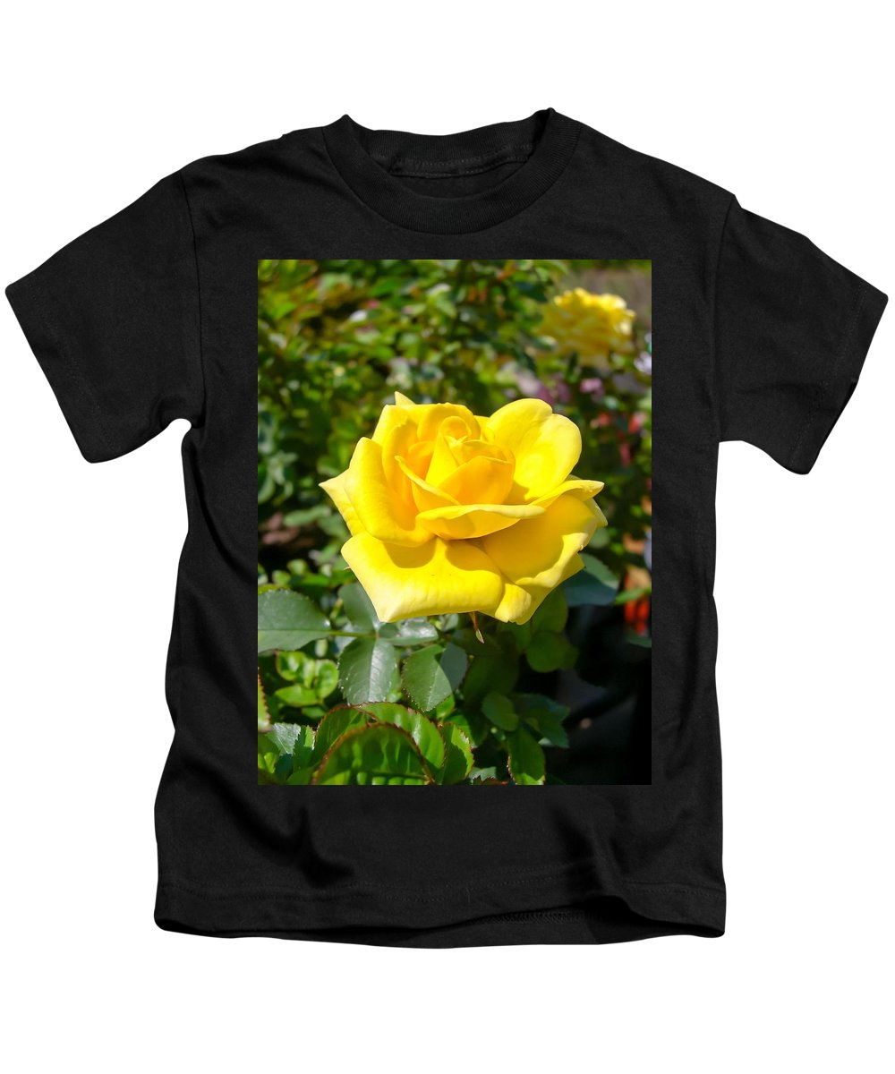 Perfect Yellow Rose Kids T-Shirt featuring the photograph Perfect Yellow Rose by Cynthia Woods