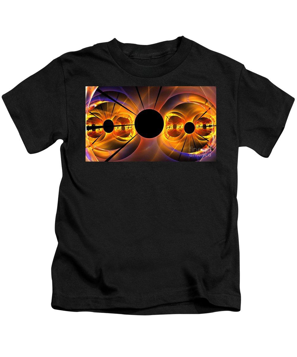 Apophysis Kids T-Shirt featuring the digital art Photosphere by Kim Sy Ok