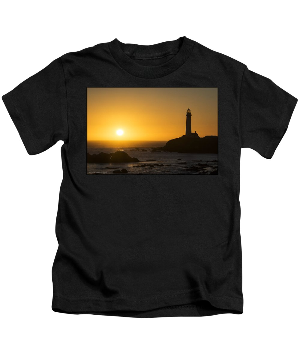 Lighthouse Kids T-Shirt featuring the photograph Pigeon Point Lighthouse by Erika Fawcett
