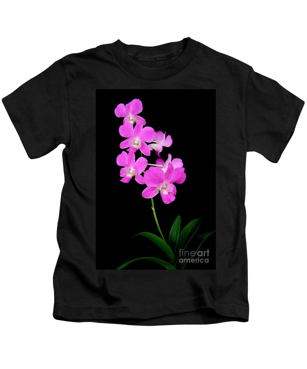 Orchid Kids T-Shirt featuring the photograph Pink Orchids 9 by Mary Deal