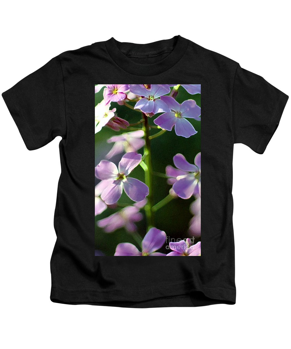 Wildflower Kids T-Shirt featuring the photograph Pink Wildflwer by Kathleen Struckle