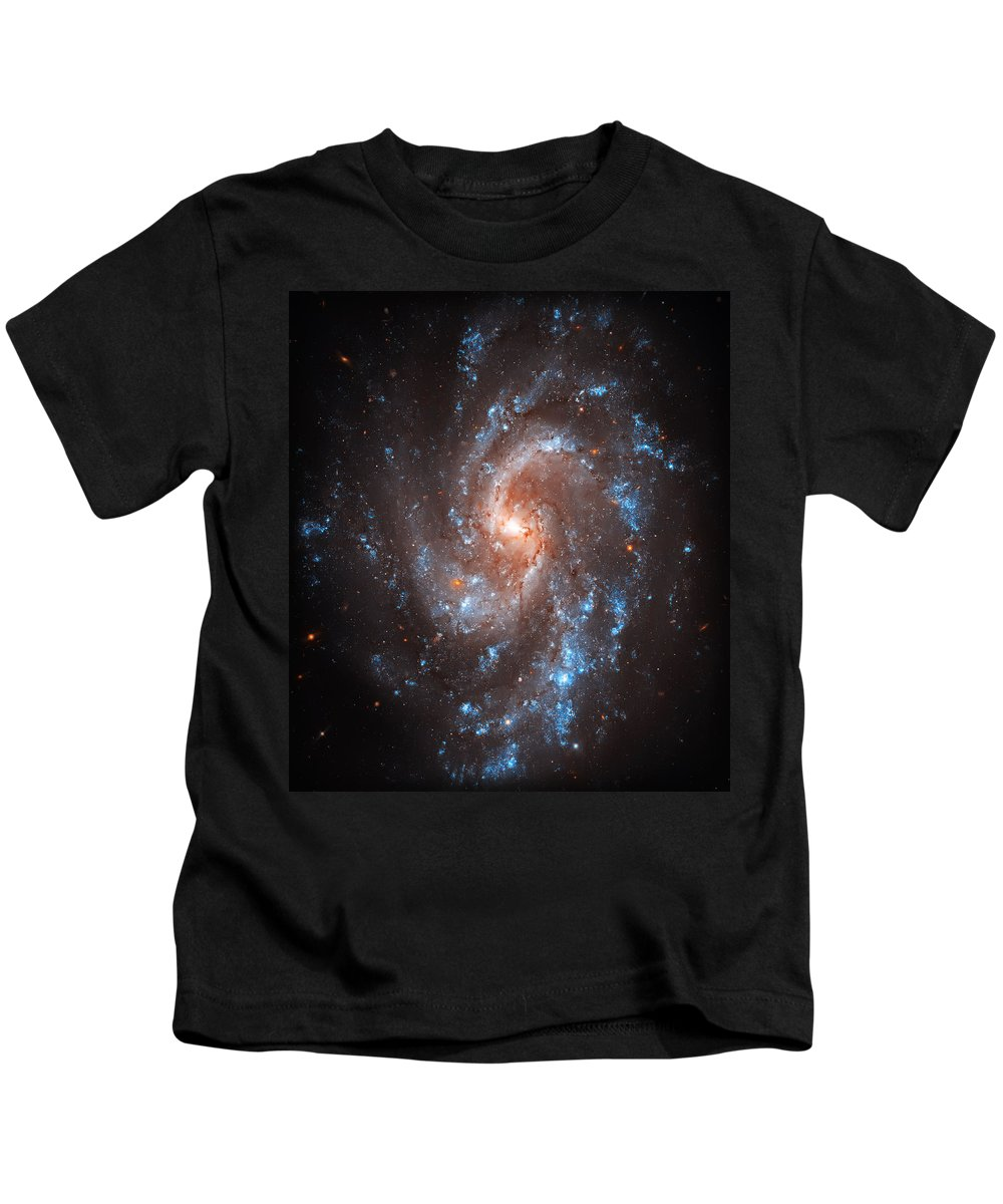 Universe Kids T-Shirt featuring the photograph Pinwheel Galaxy by Jennifer Rondinelli Reilly - Fine Art Photography