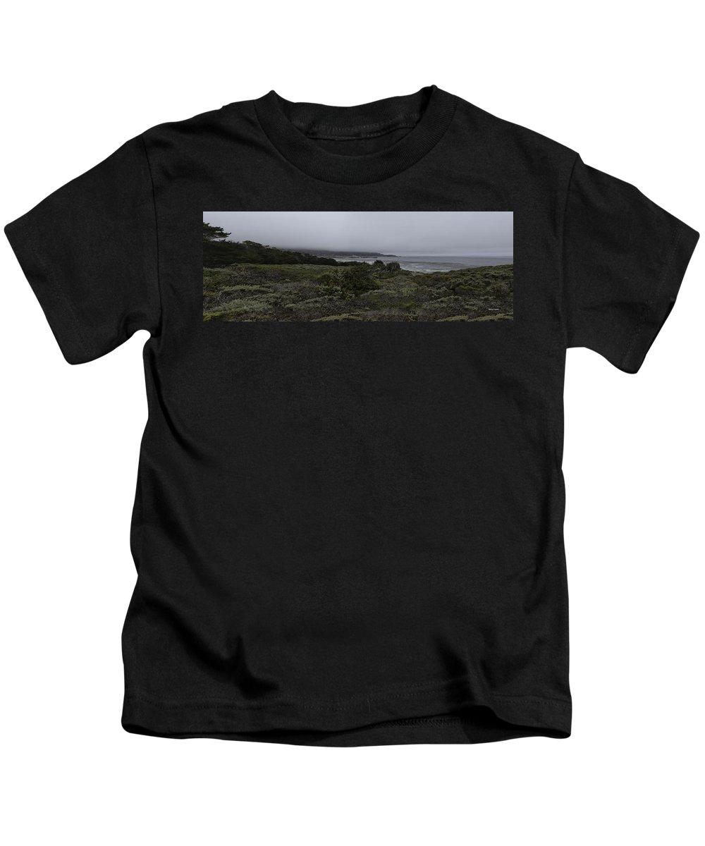 Point Lobos National Park Kids T-Shirt featuring the photograph Point Lobos National Park by Angela Stanton