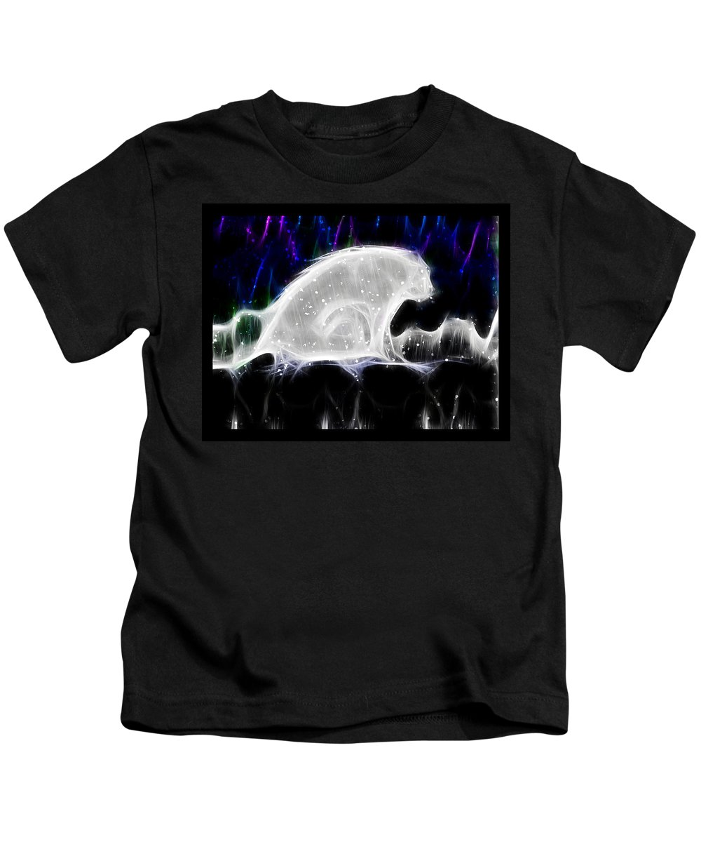Polar Bear Kids T-Shirt featuring the digital art Polar And Snow by Shannon Story
