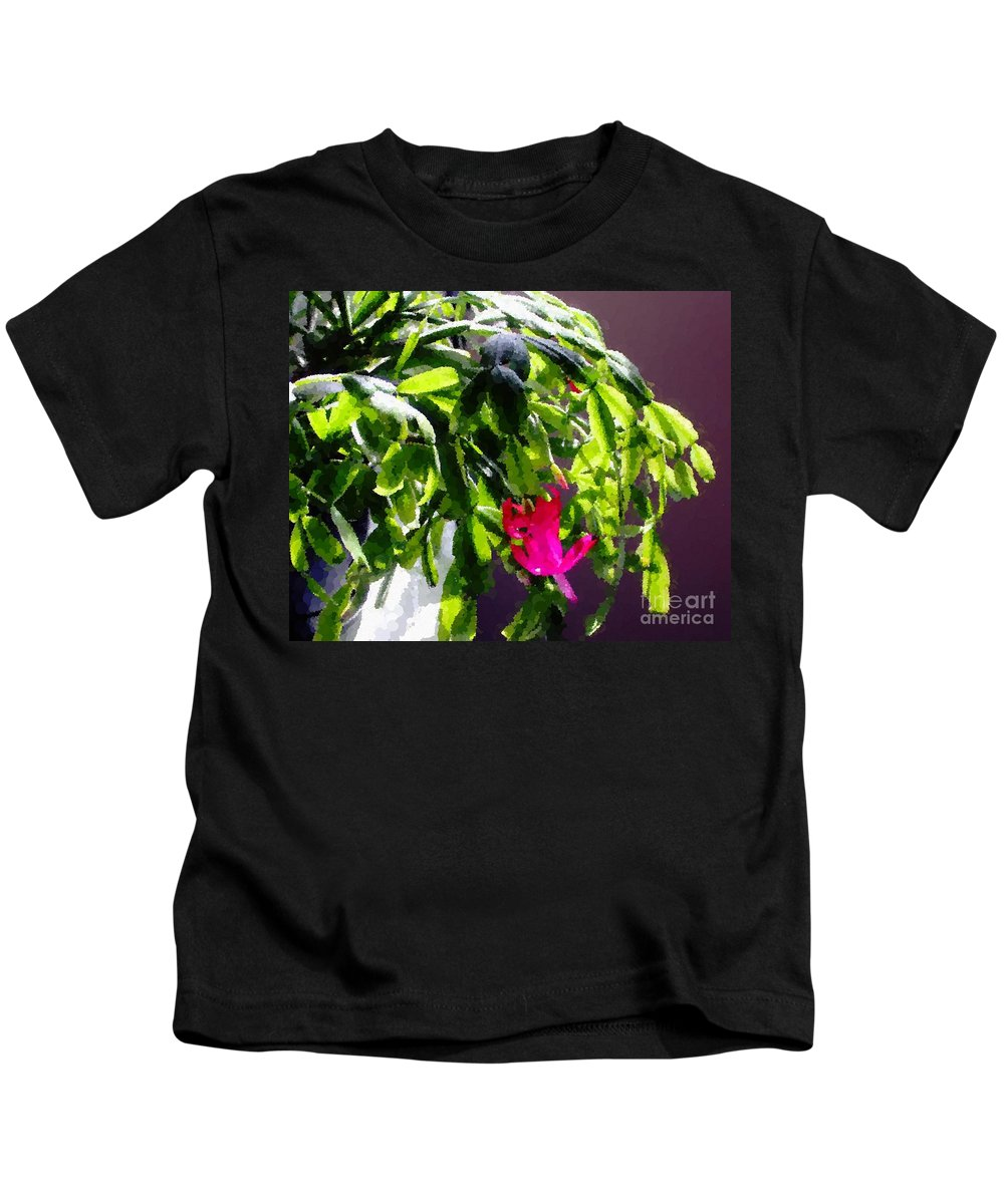 Polka Dot Easter Cactus Kids T-Shirt featuring the photograph Polka Dot Easter Cactus by Barbara Griffin