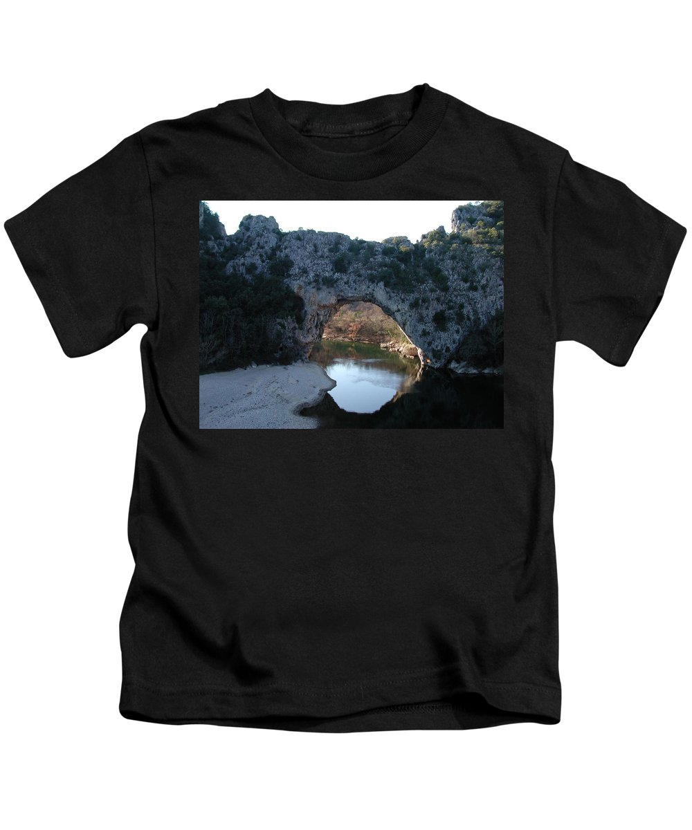 Colette Kids T-Shirt featuring the photograph Pond Dark Ardeche France by Colette V Hera Guggenheim