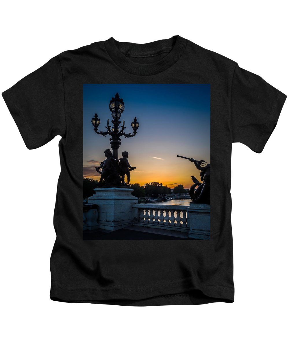 France Kids T-Shirt featuring the photograph Pont Alexandre IIi by Mark Llewellyn