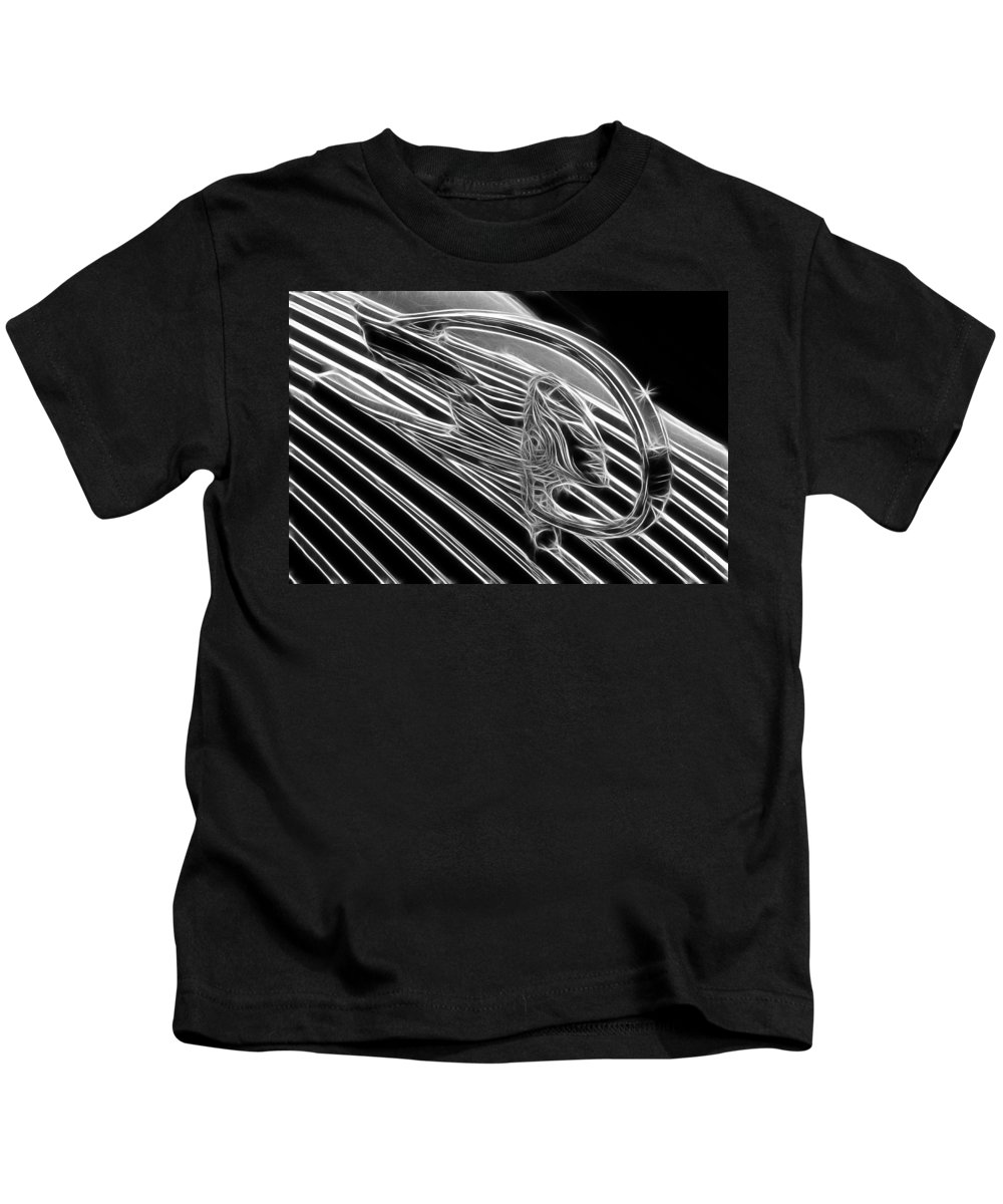 Pontiac Chief Kids T-Shirt featuring the photograph Pontiac Chief by Wes and Dotty Weber