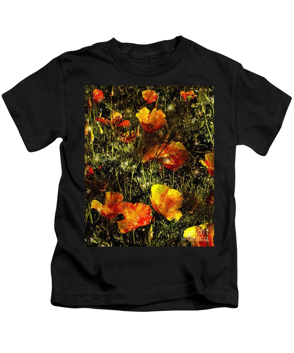 Poppies Kids T-Shirt featuring the painting Poppies Will Make Them Sleep by RC DeWinter