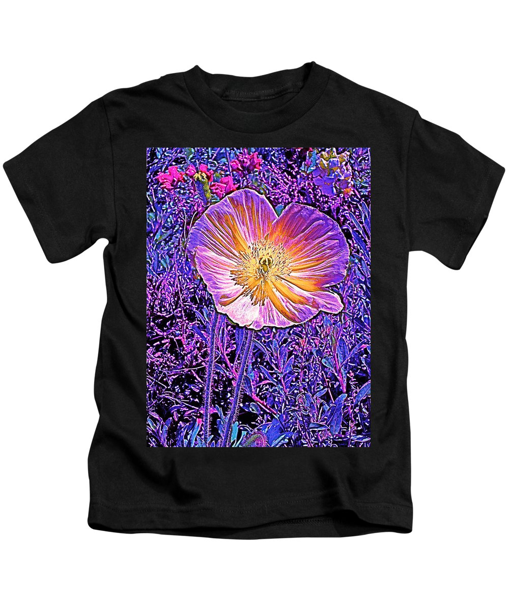 Flowers Kids T-Shirt featuring the photograph Poppy 3 by Pamela Cooper