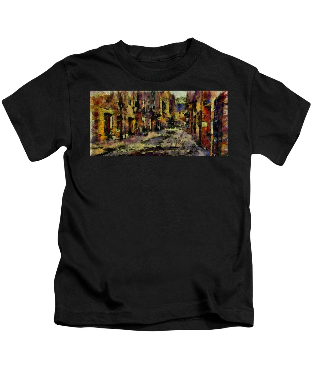 City Kids T-Shirt featuring the painting Port by Janice MacLellan