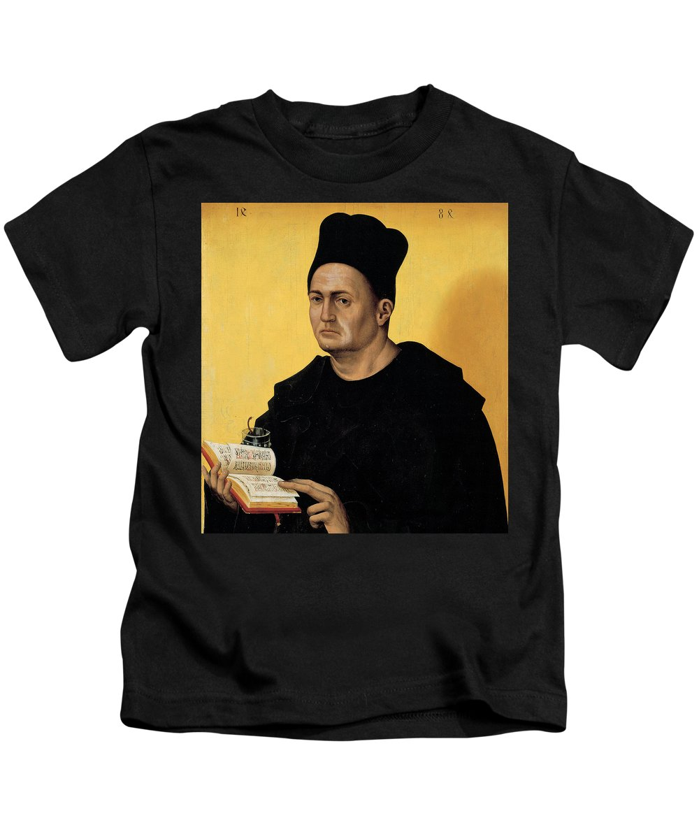 Portrait Of A Benedictine Abbot Kids T-Shirt featuring the painting Portrait Of A Benedictine Abbot by Italian School