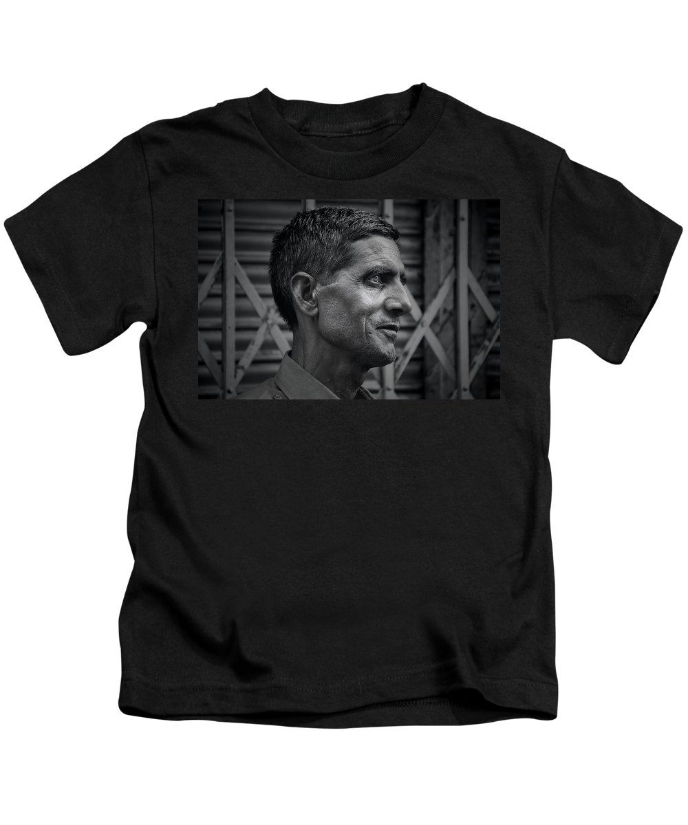 Men Kids T-Shirt featuring the photograph Portrait Of A Stranger by Valerie Rosen