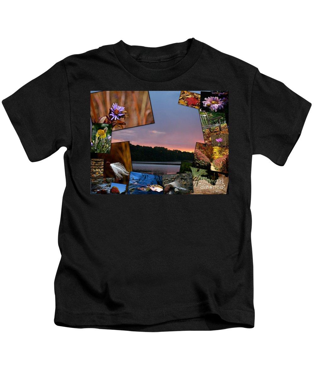 Fall Kids T-Shirt featuring the photograph Postcard Autumn Memories by Susan Herber