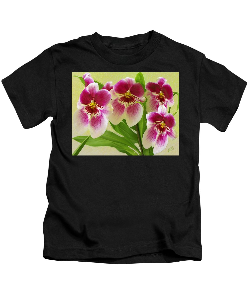 Orchid Kids T-Shirt featuring the photograph Pretty Faces - Orchid by Ben and Raisa Gertsberg