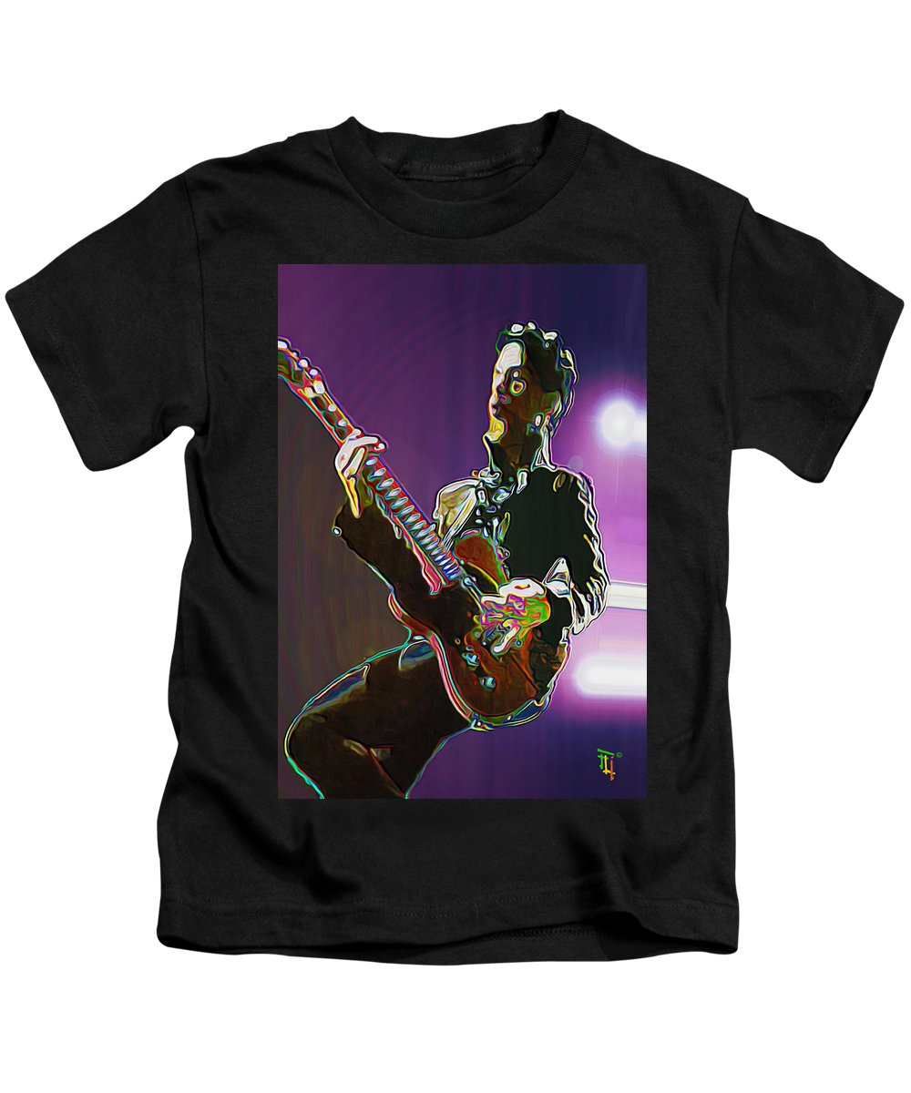 Prince Kids T-Shirt featuring the painting Prince by Fli Art