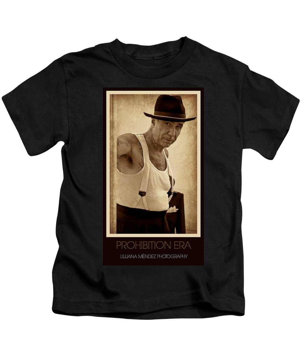 Prohibition Era Poster Kids T-Shirt featuring the photograph Prohibition Era by Lilliana Mendez