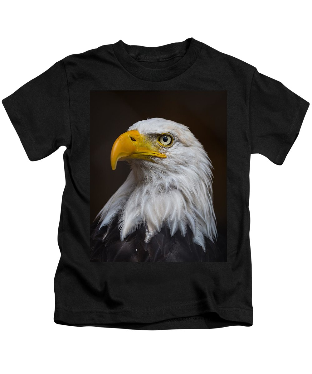 American Bald Eagle Kids T-Shirt featuring the photograph Proud by Enrico Forlini