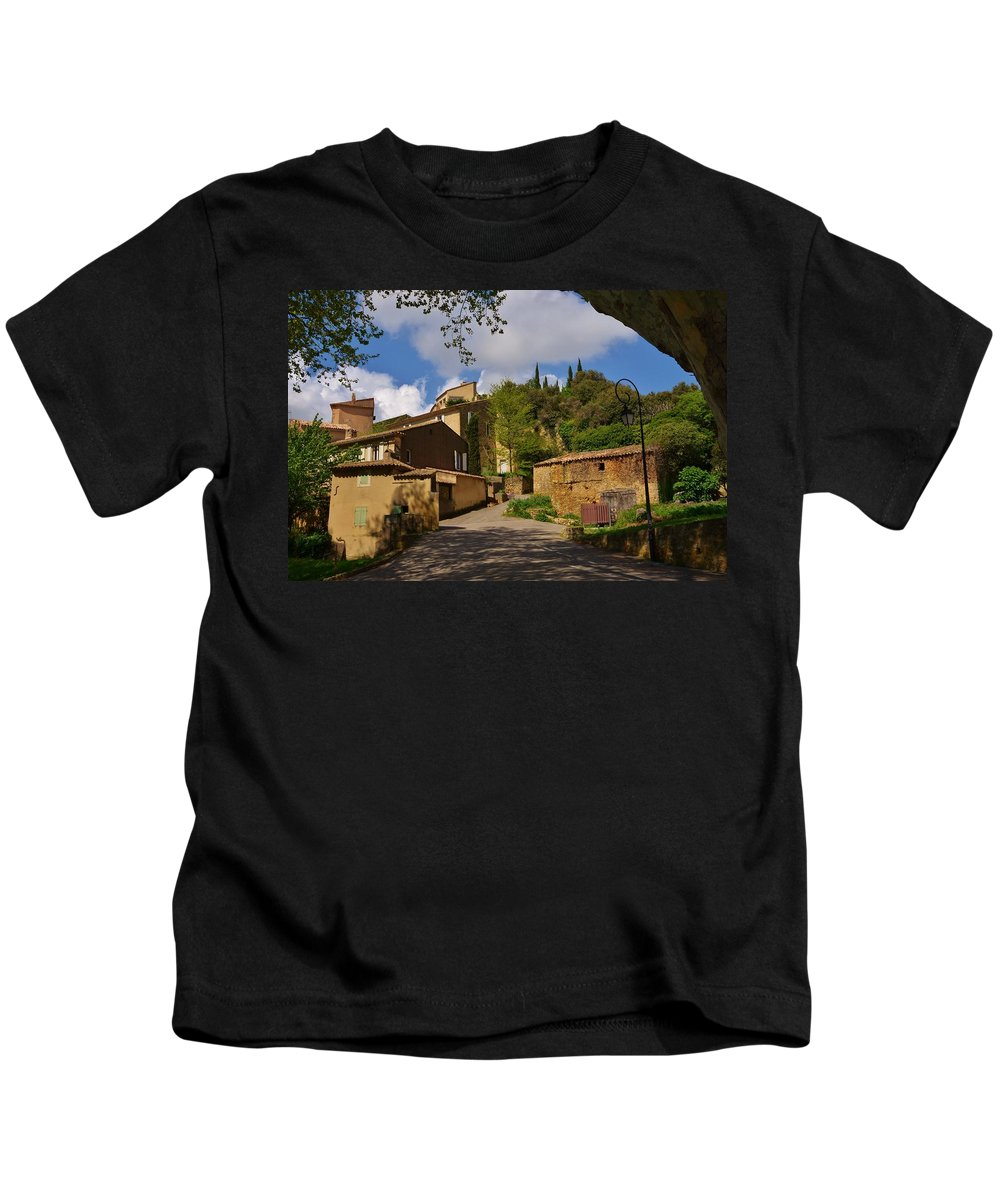 Provence Kids T-Shirt featuring the photograph Provencal Village by Dany Lison
