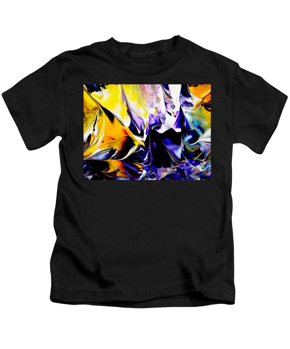 Abstract Kids T-Shirt featuring the painting Botanical # 1201 by Antonia Lazaki