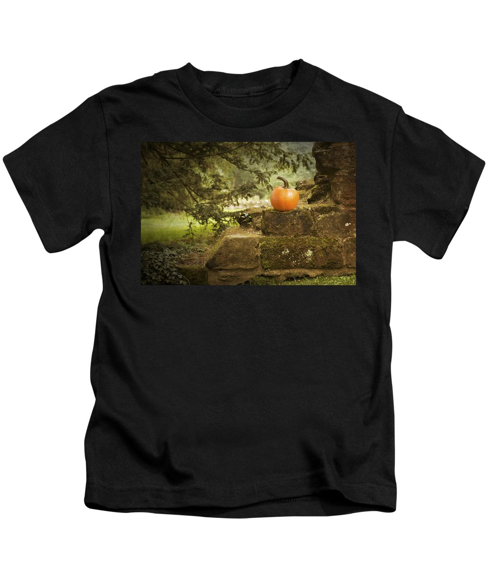 Pumpkin Kids T-Shirt featuring the photograph Pumpkin by Amanda Elwell