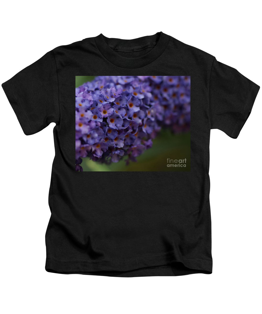 Purple Kids T-Shirt featuring the photograph Purple Flowers 1 by Carol Lynch
