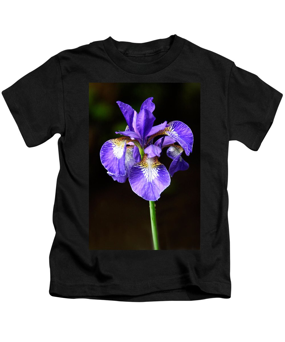 3scape Kids T-Shirt featuring the photograph Purple Iris by Adam Romanowicz