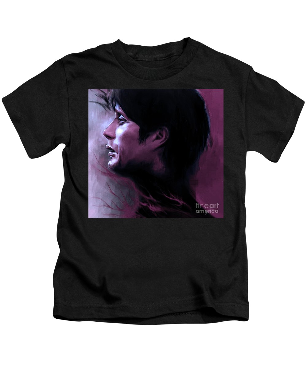 Purple Kids T-Shirt featuring the digital art Purple Mads by Dori Hartley