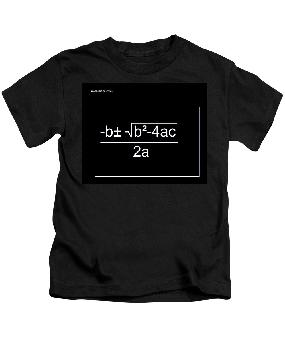Featured Kids T-Shirt featuring the digital art Quadratic Equation W-b by Paulette B Wright