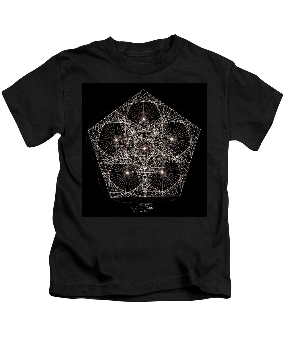 Star Kids T-Shirt featuring the drawing Quantum Star II by Jason Padgett