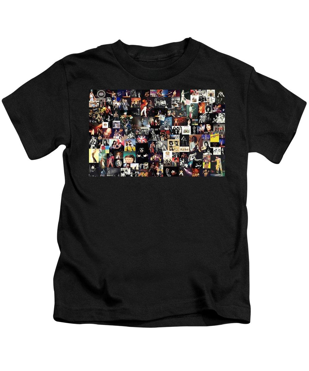 Queen Kids T-Shirt featuring the digital art Queen Collage by Zapista Zapista