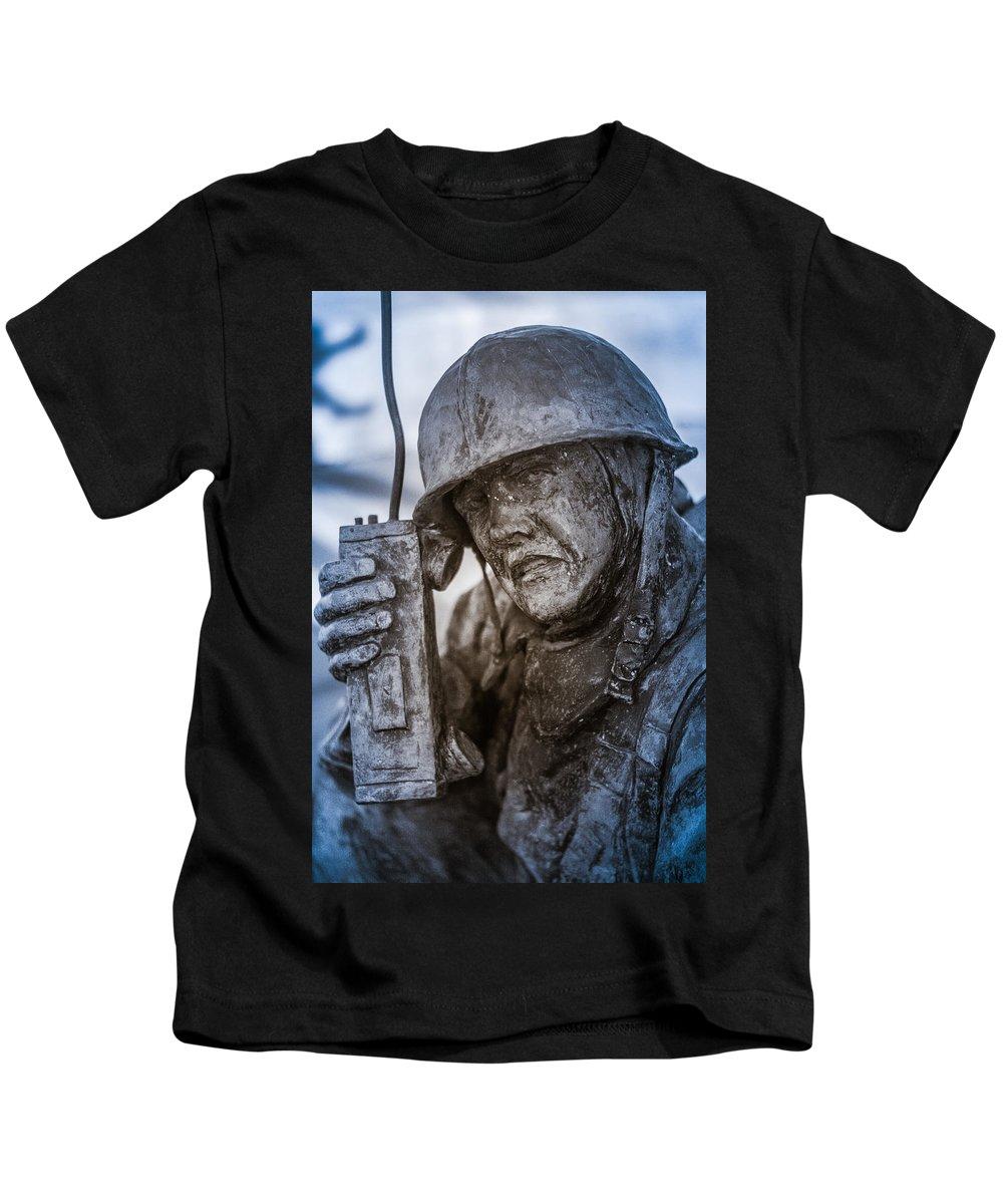 Florida Kids T-Shirt featuring the photograph Radio Man by Jon Cody