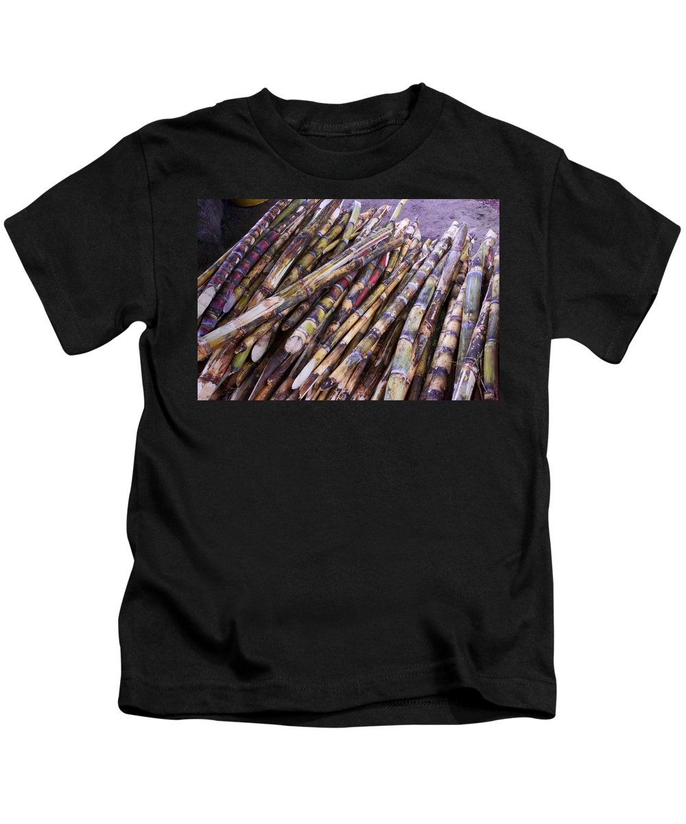 Raw Cane Kids T-Shirt featuring the photograph Raw Cane by Allan Morrison