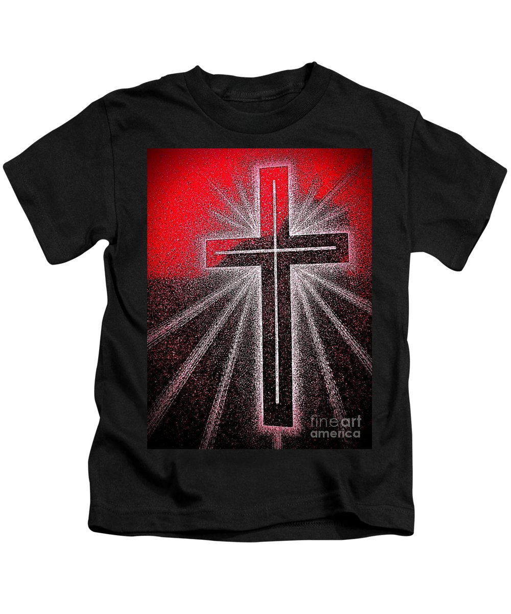 Cross Kids T-Shirt featuring the photograph Rays Of Love by Ed Weidman