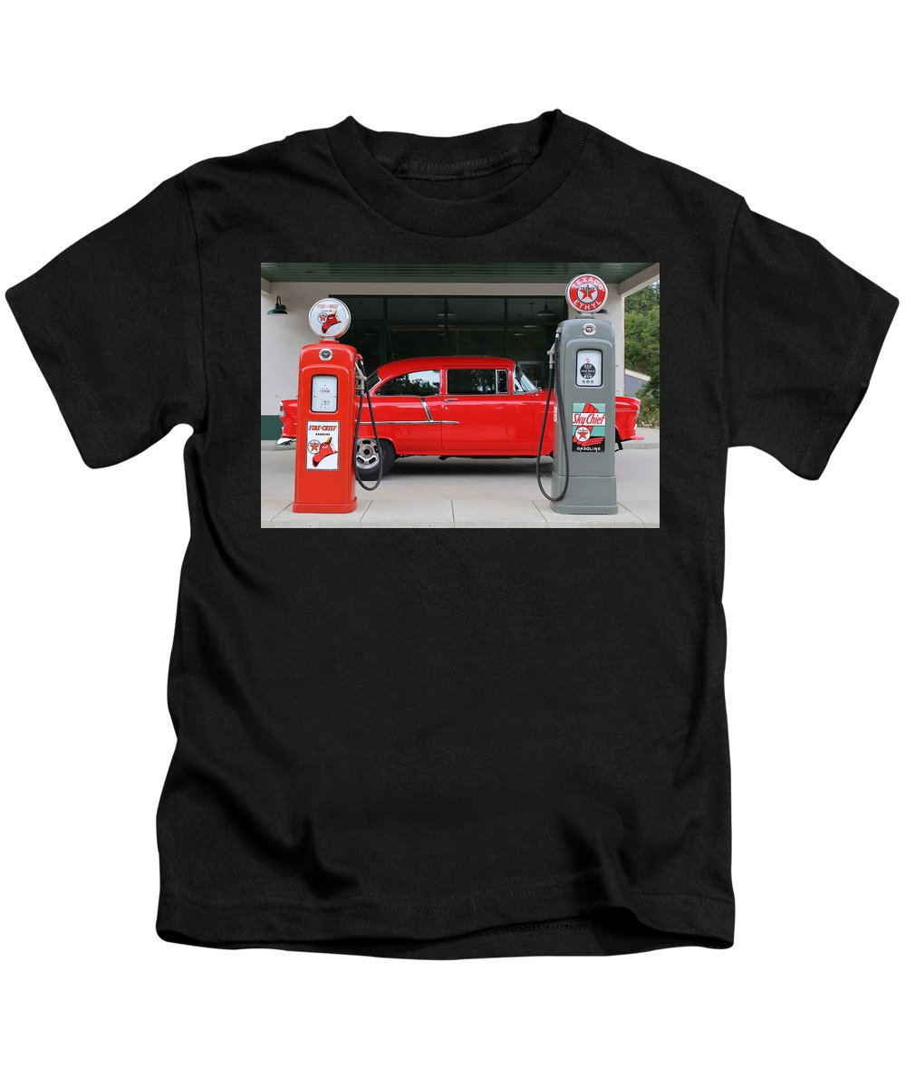 55 Kids T-Shirt featuring the photograph Red 55 by Lynn Sprowl