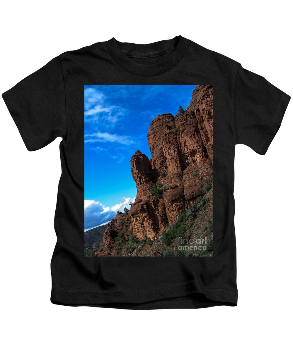 Lovejoy Kids T-Shirt featuring the photograph Red Giants by Lovejoy Creations